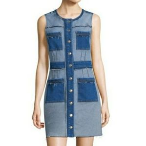 denim button-front dress